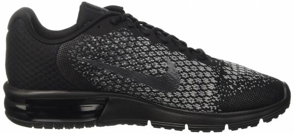 14f55bbf6db Nike Air Max Sequent 2 Black (Black Dark Grey Wolf Grey Metallic