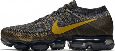 Nike Air VaporMax Flyknit Black/Mineral Gold-dark Grey Men