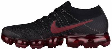 Nike Air VaporMax Flyknit Black, Dark Team Red Men