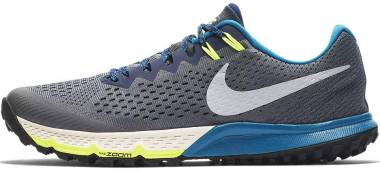 Nike Air Zoom Terra Kiger 4 - Dark Grey/Metallic Silver-blue Void
