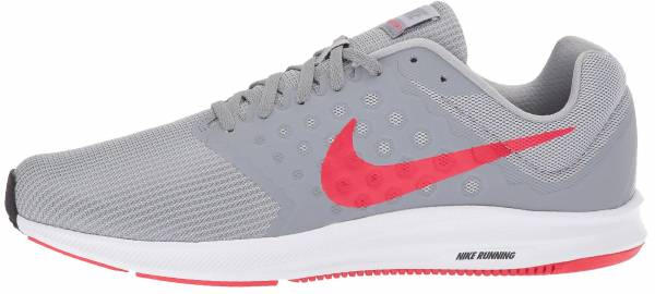 Nike Downshifter 7 - Wolf Grey Red Stealth Black