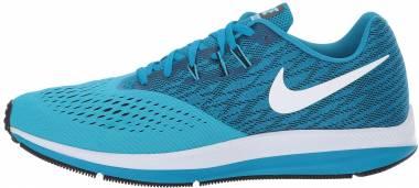 Nike Air Zoom Winflo 4 - Blu Blue Orbit White Black Blue Furry (898466401)