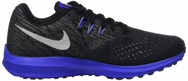 Nike Air Zoom Winflo 4 - Black Black Mtlc Silver Cool Grey Racer Blue (898466009)