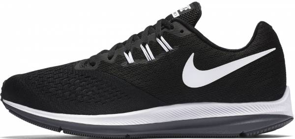 free shipping 61edf 8e777 Nike Air Zoom Winflo 4 Black White Dark Grey