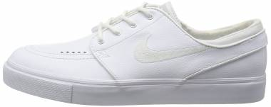Nike SB Zoom Stefan Janoski Leather - White/White-wolf Grey (616490110)