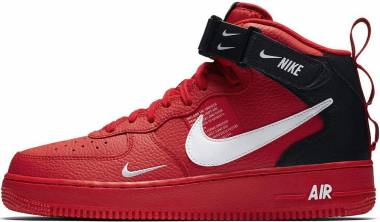 Nike Air Force 1 07 Mid LV8 - Multicolore University Red White Black Tour Yellow 605 (804609605)