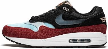 Nike Air Max 1 Premium - Black, Cinder Orange Blue (CJ9746001)