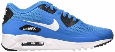 Nike Air Max 90 Ultra Essential - Bleu Blanc Noir Heritage Cyan White Black Wht (819474401)
