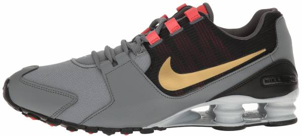 separation shoes 7d82e ebe88 Nike Shox Avenue Cool Grey Metallic Gold