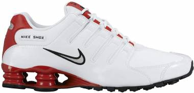 Nike Shox NZ White/Metallic Silver/University Red Men