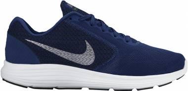 Nike Revolution 3 - Blau Deep Royal Blue Metallic Clear Grey Black White 400 (819300400)