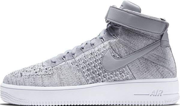 best cheap fc610 1e3b0 Nike Air Force 1 Ultra Flyknit Mid Wolf Grey   Wolf Grey-white