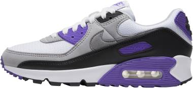 Nike Air Max 90 - White Particle Grey Hyper Grape Black (CD0881102)