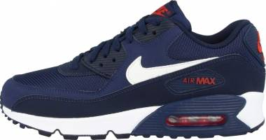 d0b13204 Nike Air Max 90 Essential Blue Void-pure Platinum-white (Aj1285-402