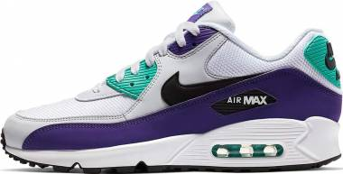 Nike Air Max 90 Essential - Multicolore (White/Black/Hyper Jade/Court Purple 103)