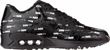 Nike Air Max 90 Premium - Black Black Black White 015