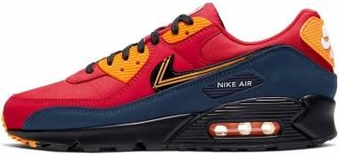 Nike Air Max 90 Premium - University Red/Black-university Gold