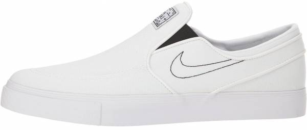 low priced ebd78 53d34 Nike SB Zoom Stefan Janoski Slip-On Canvas White