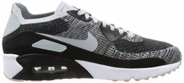 Nike Air Max 90 Ultra 2.0 Flyknit - Black White Pure Platinum 005 (875943005)