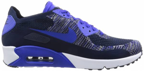 buy online 395f0 0fa78 Nike Air Max 90 Ultra 2.0 Flyknit College Navy Paramount Blue