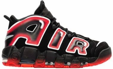 Nike Air More Uptempo - Black White Laser Crimson
