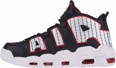 Nike Air More Uptempo Black/Black/University Red/White Men