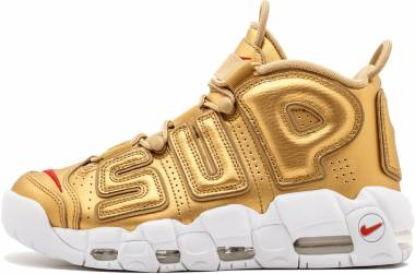 Nike Air More Uptempo Metallic Gold/White Men