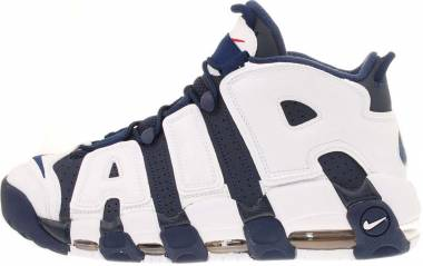 Nike Air More Uptempo - Mid Navy, Mid Nvy-white-sprt Rd