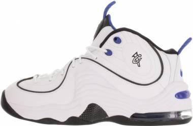 Nike Air Penny II - Blanco White Black Varsity Royal Blk