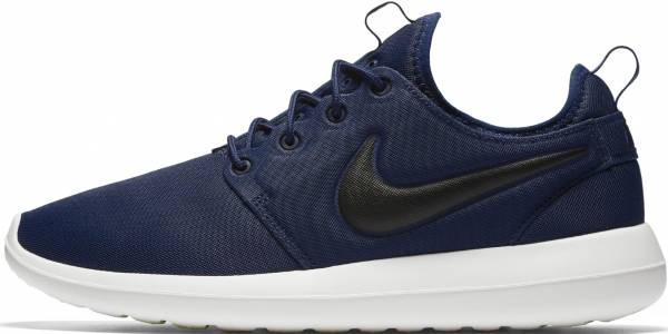 6cf98dd691630 Nike Roshe Two Azul (Midnight Navy   Black-sail-volt)