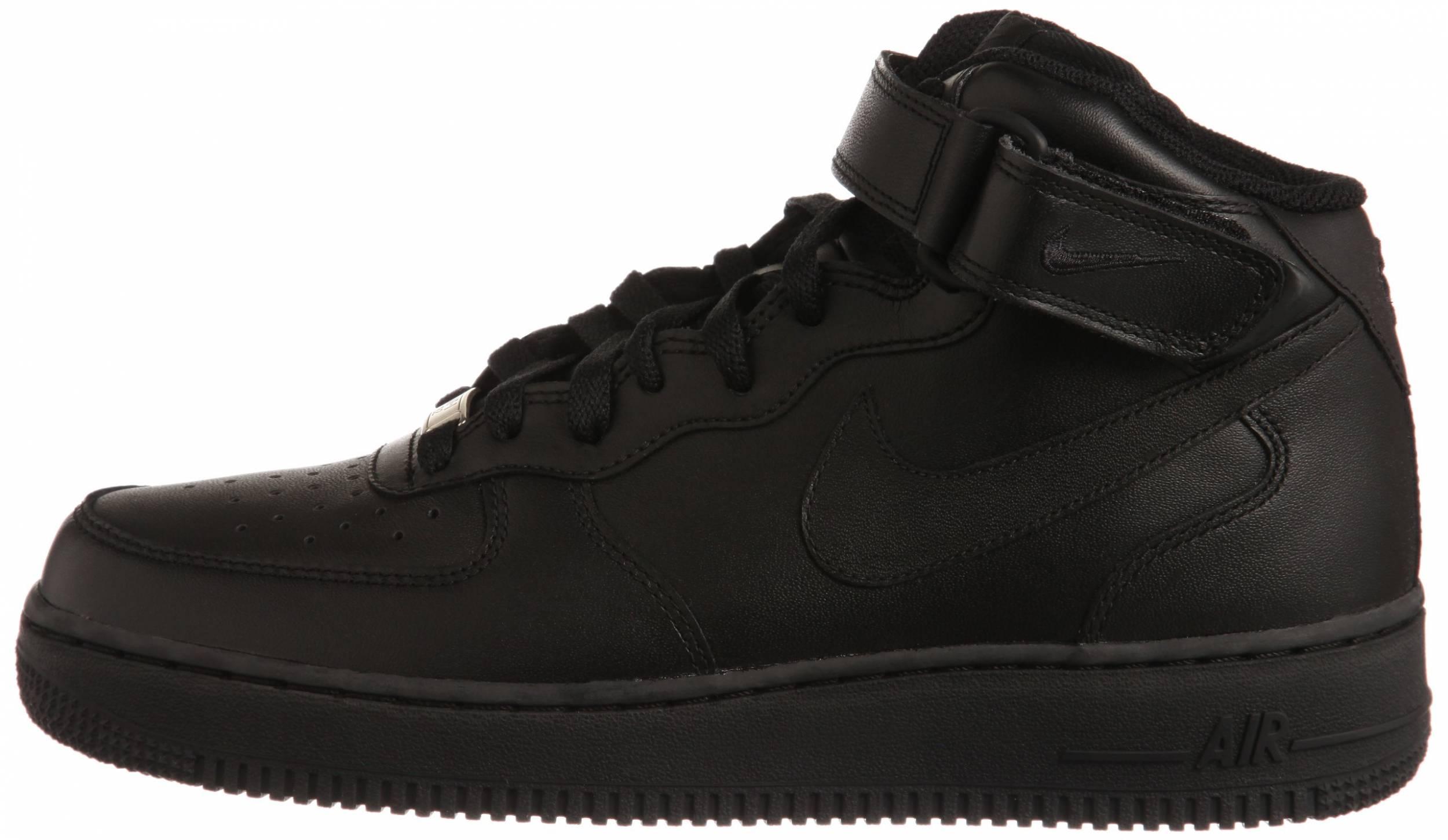 pasatiempo Resplandor Recientemente  Nike Air Force 1 Mid sneakers in black + white | RunRepeat