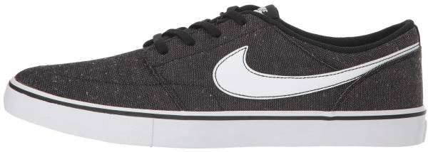 competitive price b0c84 2f77e Nike SB Solarsoft Portmore II Canvas Premium Black White