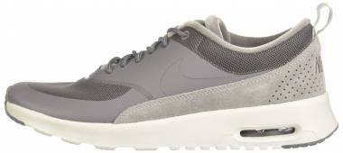 nike air max thea premium trainers in tan faux snake
