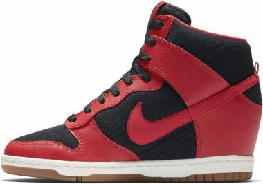 Nike Dunk Sky Hi Essential - Black/University Red-sail-black (644877015)