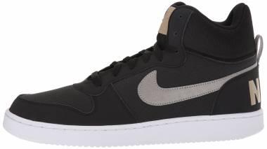 Nike Court Borough Mid - Schwarz Black M T L C Pewterkhakiwhite 005