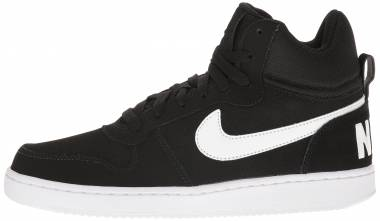 Nike Court Borough Mid - Schwarz Black White (838938010)