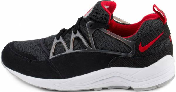 the latest 59f70 6d9b8 Nike Air Huarache Light Black University Red-Wolf Grey