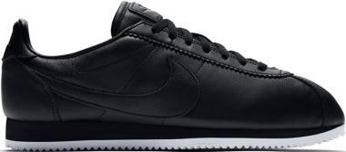 Nike Classic Cortez Premium - Black Black Black White 002