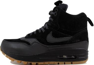 Nike Air Max 1 Mid Sneakerboot - Black Dark Grey Metallic Silver 001 (685267003)