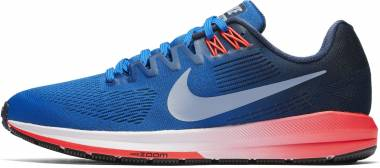 Nike Air Zoom Structure 21 - Blue Blue Jay Obsidian Solar Red Glacier Grey (904695400)
