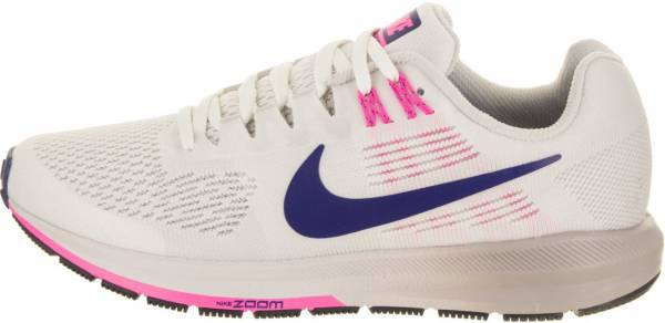 Nike Air Zoom Structure 21 - White Summit White Deep Royal Blue V 101 (904701101)