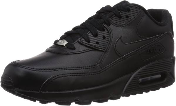 air max 90 leather uomo nero