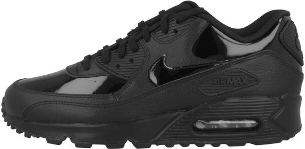 all black air max 90 leather