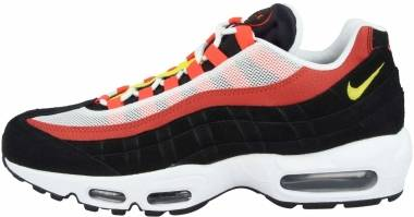 Nike Air Max 95 Essential - White Chrome Yellow Black Bright Crimson (AT9865101)