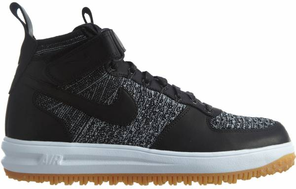 Nike Lunar Force 1 Flyknit Workboot Black/White-wolf Grey