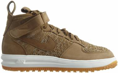 Nike Lunar Force 1 Flyknit Workboot - Golden Beige/Sail-olive Flak