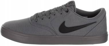 Nike SB Check Solarsoft Canvas - Dark Grey / Black