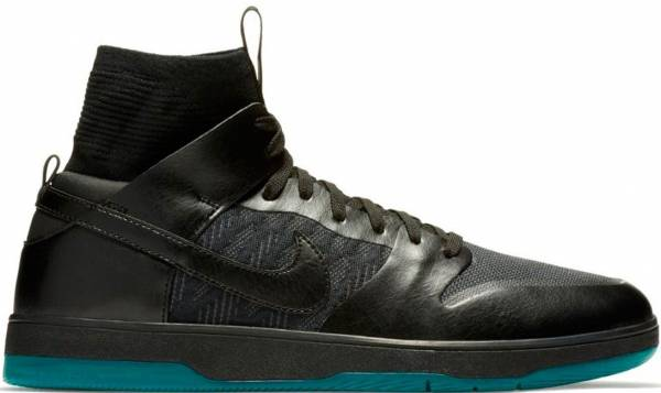 outlet store d8d8b 22c3e Nike SB Dunk High Elite Black Atomic Teal 003