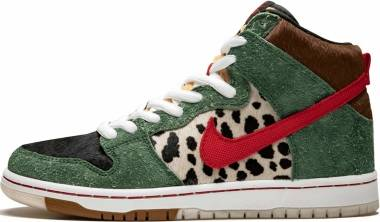 Nike SB Dunk High Pro QS - fir, university red-black-white (BQ6827300)
