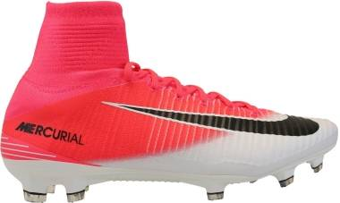 Nike Mercurial Superfly V Firm Ground - Pink Racer Pink White Black (831940601)